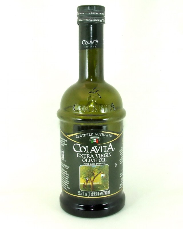 From the Garden Variety kitchen pantry. Colavita Extra Virgin Olive Oil (purchased at Walmart).