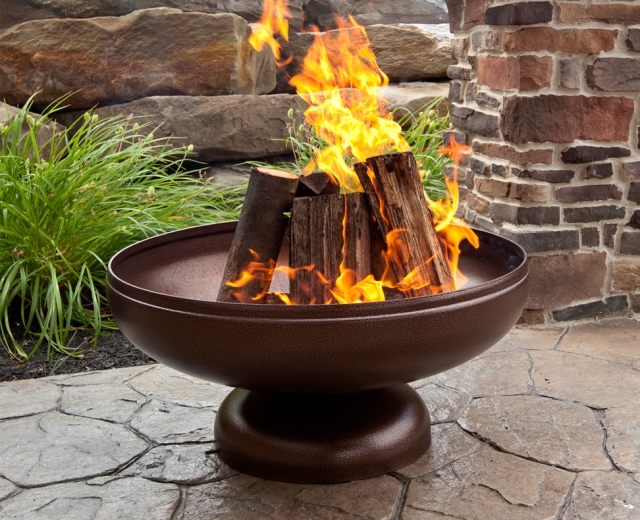 The Patriot Fire Pit. Photo courtesy of Ohio Flame.
