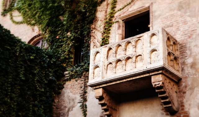 The famed 'Where for art thou' balcony in Verona where Juliet is said to have stood. Photo courtesy of Swide.