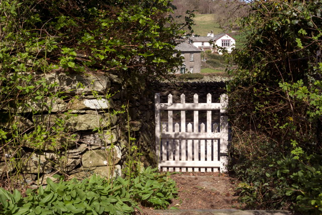 The gate at Castle Cottage. Photographed by Ward. Used by permission of the publisher. All rights reserved.