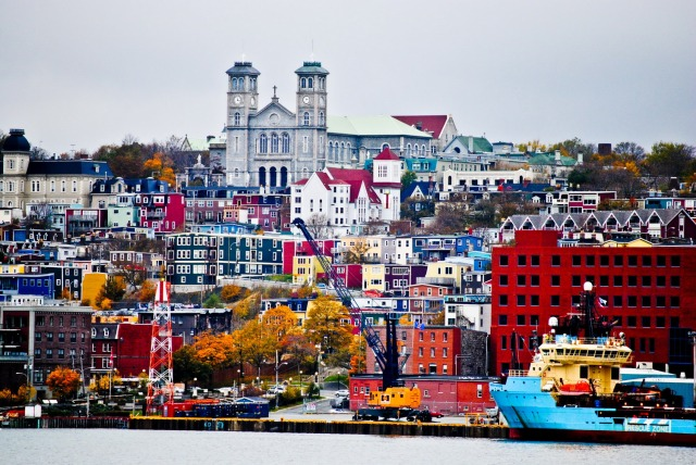 The colorful architecture of St. John, Newfoundland. Photo courtesy of Asmaa Dee.