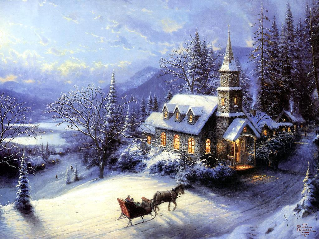 digital wallpapers | classic outdoor christmas scenes | garden variety