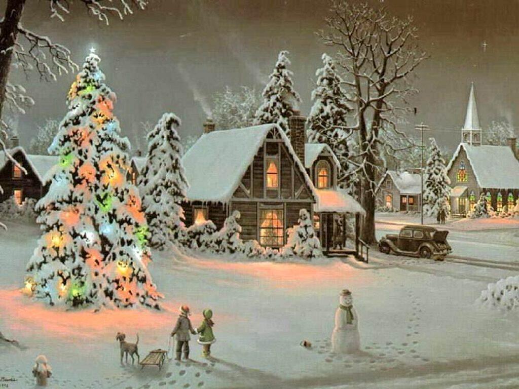 christmas scene 6