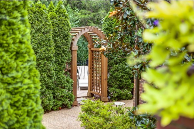 Don't you wonder what lies through that arbor? Photo courtesy of The Lipman Group.