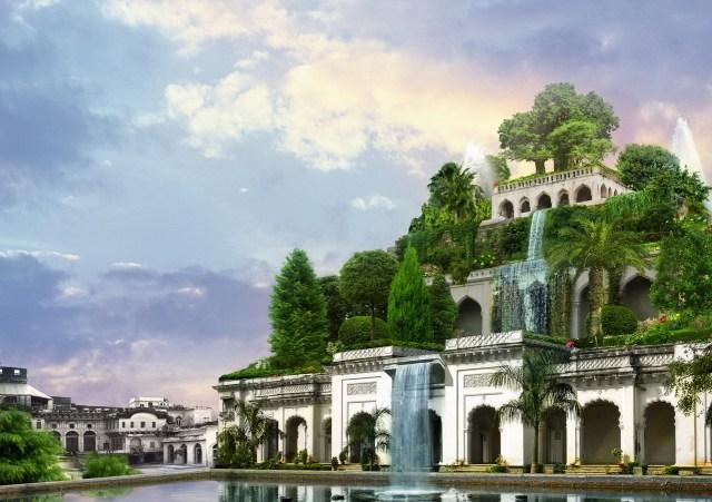 The Hanging Gardens of Babylon. Artist rendition by Sergey Likhachev (Batkya).
