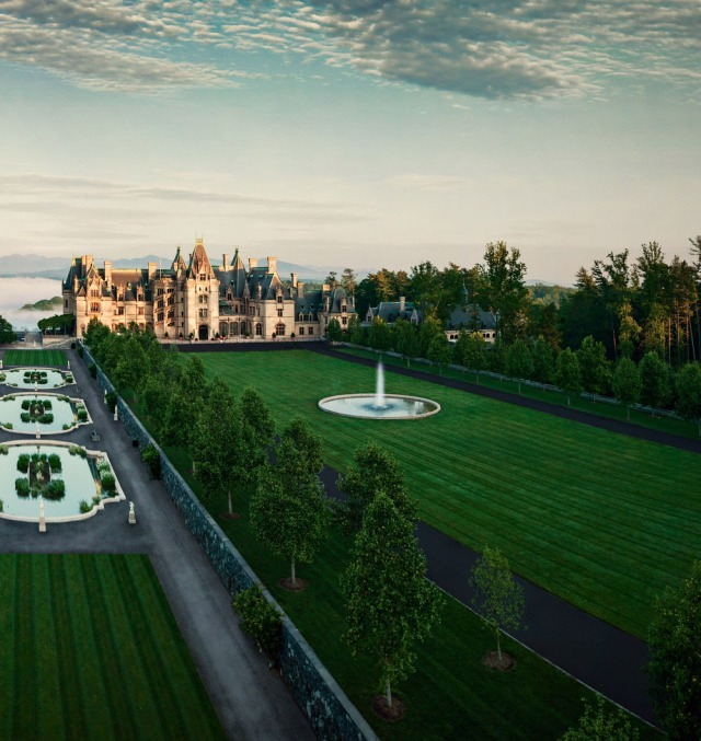 A view of the approach to Biltmore Estate. Photo courtesy of Biltmore.