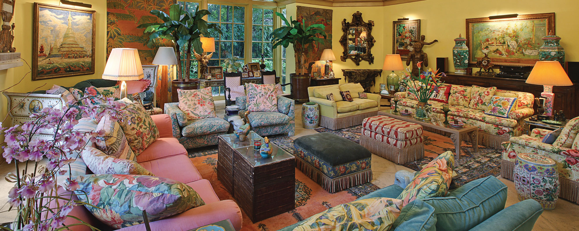 Photo courtesy of Leslie Hindmann Auctineers. Home and Garden Objects of Lilly Pulitzer Up for Auction   Garden
