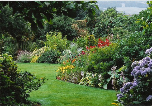 Photo a lush mature garden of delights garden variety for Jardin remarquable 06