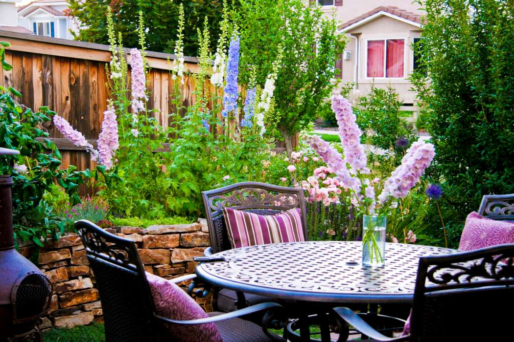 Photos breathtaking rocky mountain gardens patios and for Backyard patio landscaping