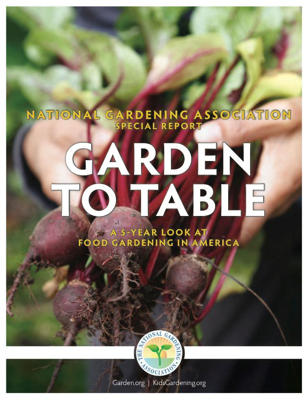 Yard to plate edible gardening rises in the u s for National gardening association